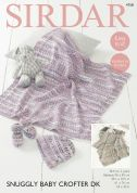 Sirdar Baby Blankets, Bonnet & Bootees Baby Crofter Knitting Pattern 4758  DK
