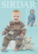 Sirdar Baby All In One Onesies Flurry Knitting Pattern 4766  Chunky