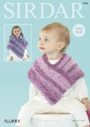 Sirdar Baby & Girls Ponchos Flurry Knitting Pattern 4768  Chunky