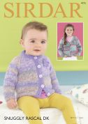Sirdar Baby & Girls Coat & Cardigan Rascal Knitting Pattern 4773  DK