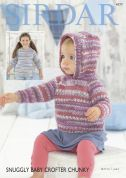 Sirdar Baby & Girls Sweater & Hoodie Baby Crofter Knitting Pattern 4777  Chunky