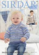 Sirdar Baby & Boys Sweaters Baby Crofter Knitting Pattern 4778  Chunky