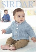 Sirdar Baby & Boys Sweaters Supersoft Knitting Pattern 4782  Aran