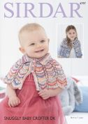 Sirdar Baby Capes Baby Crofter Knitting Pattern 4797  DK