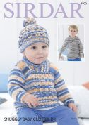 Sirdar Baby Sweater & Hat Baby Crofter Knitting Pattern 4800  DK