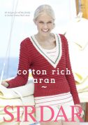 Sirdar Cotton Rich 481 Knitting Pattern Book  Aran