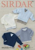 Sirdar Baby Sweaters Snuggly Knitting Pattern 4810  4 Ply