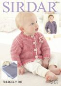Sirdar Baby Cardigan & Blanket Snuggly Knitting Pattern 4814  DK