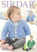 Sirdar Baby Jacket & Hat Snuggly Knitting Pattern 4817  DK