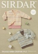 Sirdar Baby Cardigans Baby Crofter Knitting Pattern 4819  4 Ply