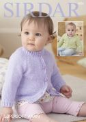 Sirdar Baby Cardigans Supersoft Knitting Pattern 4826  Aran