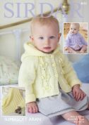 Sirdar Baby Jackets & Blanket Supersoft Knitting Pattern 4830  Aran
