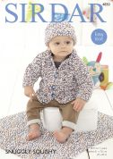 Sirdar Baby Jacket, Hat & Blanket Snuggly Squishy Knitting Pattern 4850  Chunky