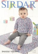 Sirdar Baby Sweater & Blanket Snuggly Squishy Knitting Pattern 4855  Chunky