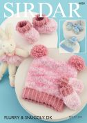 Sirdar Baby Hats, Mittens & Booties Flurry Knitting Pattern 4858  Chunky
