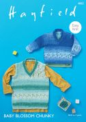 Hayfield Baby Sweater & Tank Baby Blossom Knitting Pattern 4862  Chunky