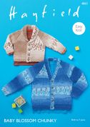 Hayfield Baby Cardigans Baby Blossom Knitting Pattern 4863  Chunky
