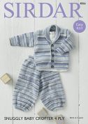 Sirdar Baby Jacket & Trousers Baby Crofter Knitting Pattern 4866  4 Ply