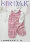 Sirdar Baby Dungarees Baby Crofter Knitting Pattern 4867  4 Ply