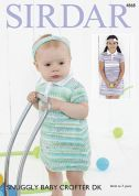 Sirdar Baby & Girls Dresses Snuggly Knitting Pattern 4868  DK