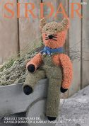 Sirdar Fox Toy & Clothes Knitting Pattern 4874  DK