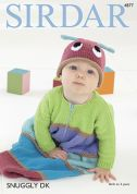 Sirdar Baby Sleeping Bag & Hat Snuggly Knitting Pattern 4877  DK