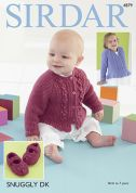 Sirdar Baby Cardigans & Shoes Snuggly Knitting Pattern 4879  DK