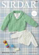 Sirdar Baby Cardigans Snuggly Knitting Pattern 4884  4 Ply