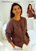 Sirdar Ladies Top & Cardigan Twin Set Wash 'n' Wear Knitting Pattern 5052  DK