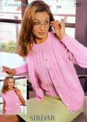 Sirdar Ladies Top & Cardigan Twin Set Country Style Knitting Pattern 5067  DK