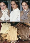 Sirdar Ladies Scarves & Gloves Country Style Knitting Pattern 5983  4 Ply