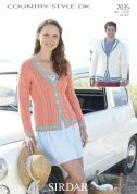 Sirdar Ladies & Mens Cardigans Country Style Knitting Pattern 7035  DK