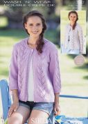 Sirdar Ladies Cardigans Wash 'n' Wear Knitting Pattern 7037  DK
