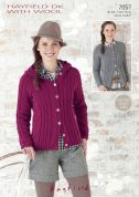Hayfield Ladies Jackets With Wool Knitting Pattern 7057  DK