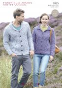 Hayfield Ladies & Mens Cardigans With Wool Knitting Pattern 7065  Aran