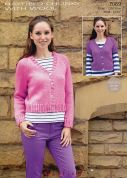 Hayfield Ladies Cardigans With Wool Knitting Pattern 7069  Chunky