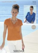 Sirdar Ladies Top & Sweater Cotton Crochet Pattern 7070  DK