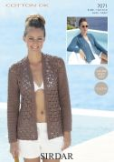 Sirdar Ladies Jacket Cotton Crochet Pattern 7071  DK