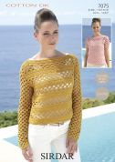 Sirdar Ladies Top & Sweater Cotton Crochet Pattern 7075  DK