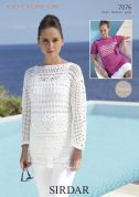 Sirdar Ladies Top & Sweater Cotton Crochet Pattern 7076  DK