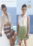 Sirdar Ladies Skirts Cotton Crochet Pattern 7077  DK