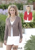 Sirdar Ladies & Girls Cardigans Cotton Knitting Pattern 7085  DK