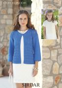 Sirdar Ladies & Girls Cardigans Cotton Knitting Pattern 7086  DK