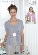 Sirdar Ladies & Girls Cardigans Soukie Knitting Pattern 7087  DK