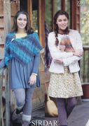 Sirdar Ladies Wrap & Scarf Hush Knitting Pattern 7095  Lace