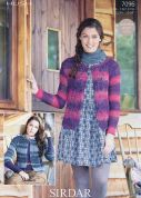 Sirdar Ladies Cardigans Hush Knitting Pattern 7096  Lace