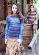 Sirdar Ladies Sweaters Hush Knitting Pattern 7097  Lace