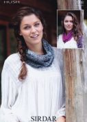 Sirdar Ladies Snoods Hush Knitting Pattern 7098