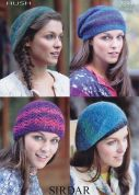 Sirdar Ladies Hats Hush Knitting Pattern 7099  Lace