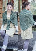 Sirdar Ladies Shawl Hush Knitting Pattern 7100  Lace